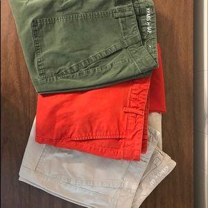 Gap Skinny Mini chinos size 12 three pairs